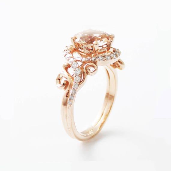 Rose Quartz Ring Etsy