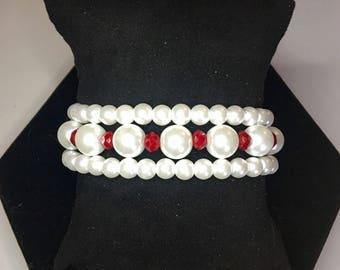 Ragamuffin Pearls & Crystal Bracelet