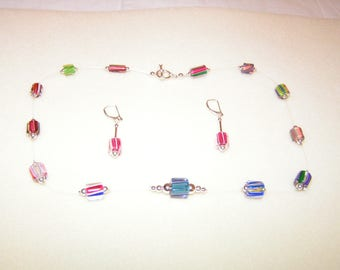Glass Candy Illusion Necklace