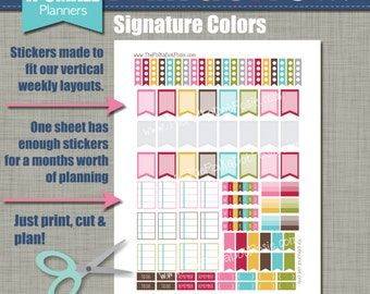 Print & Cut Stickers - Size for our X-Small Planners - Signature Design - Instant Download