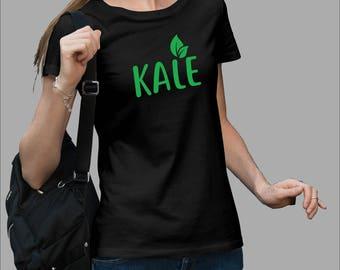 Kale Shirt Vegetarian shirt, Vegan shirt, University shirt, Organic food #J