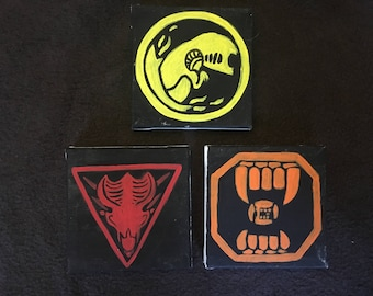 Set of 3 - Alien Icon Paintings