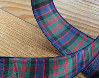 Tartan Ribbon. MacDonald tartan. 25mm width available. Price per metre