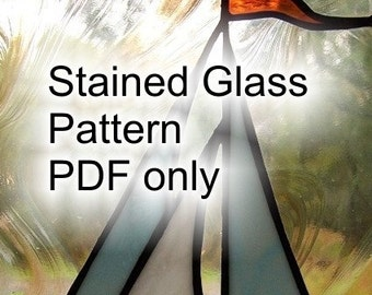 PATTERN for Stained Glass Sailboat