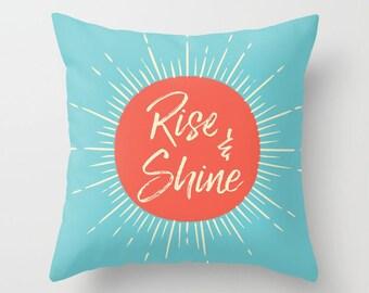Rise and Shine Pillow, Kids pillow, modern decor, sun pillow, kids decor, kids gift, scandinavian decor, throw pillow, nursery decor