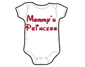 Embroidery File 5x7: Mommys Princess