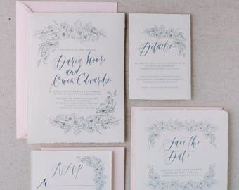 Knot Collection-Monochromatic Suite- Modern Calligraphy Invitation Suite