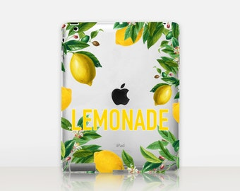 Lemonade Transparent iPad Case For - iPad 2, iPad 3, iPad 4 - iPad Mini - iPad Air - iPad Mini 4 - iPad Pro