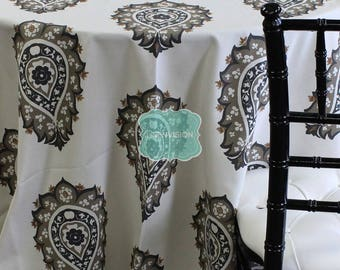 Tablecloth - Premier Prints - Damask - Caramel Macon - Choose Your Size - Table Linen Wedding Home Decor Dining Kitchen