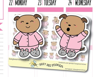 Pyjamas Planner Stickers, Bedtime Stickers, Sleep, Sleep Tracking,  Nap Stickers, Nap Time, Happy Planner Stickers, Erin Condren Stickers