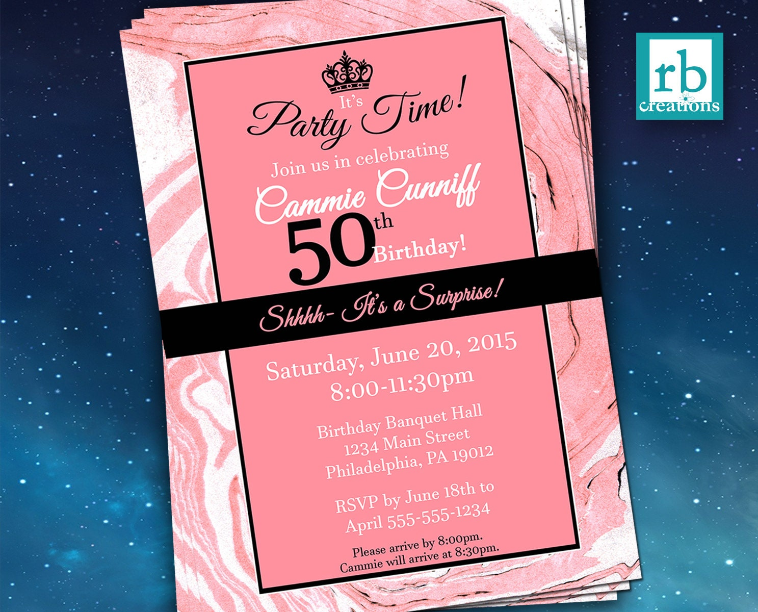Surprise Party Invitations, Surprise Birthday Invitation, Surprise ...