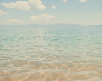 Fine Art Print, Lake Tahoe Art, Tahoe Photo, Lake Art, Teal, Water Ripples, Water Photo, Summer Art, Vacation Art, Resort Art, Cabin Decor