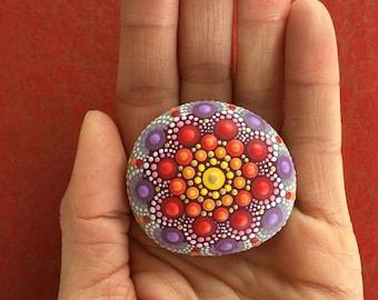 Mandala-Stone Oriental Flower