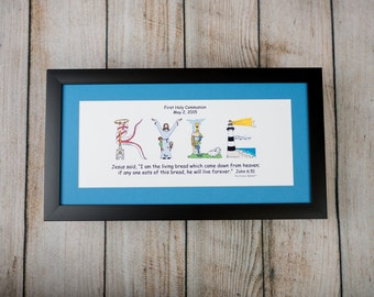 1st Communion Gift for Boys and Girls - Personalized 1st Holy Communion gift with 10x20 frame