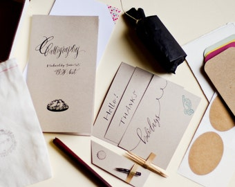Calligraphy kit - B&W inks : Starting White calligraphy