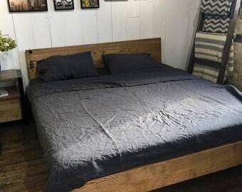 Linen bedding King bedding Pure linen Flax linen Organic bedding Queen size bedding Linen bedding set Natural pillowcase Eco bedding