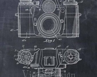 Photographic Camera Patent Print Camera Patent Art Print Camera Patent Poster
