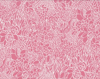 Pink Mimosa, 100% Cotton Fabric Sold by Half Yard (23286)