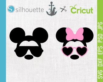 Disney svg, Mickey Mouse Sunglasses svg, Minnie Mouse svg, Mickey Glasses svg, Disney Trip SVG, Cricut, Silhouette Disney Commercial use ok