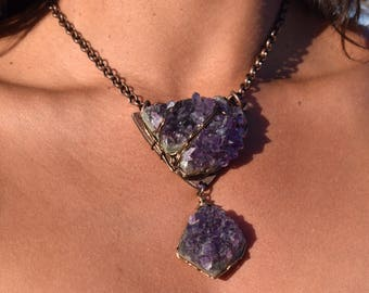 Amethyst Clusters Necklace