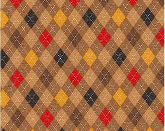 Brown Argyle (Vintage) from Robert Kaufman's Classy Canine Collection by Pink Light Designs