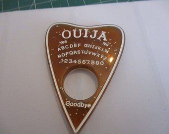Brown glittery Ouija board pointer  resin needleminder  magnet minder needle keeper