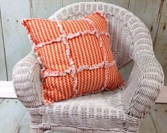 Rag Pillow- Orange & Yellow