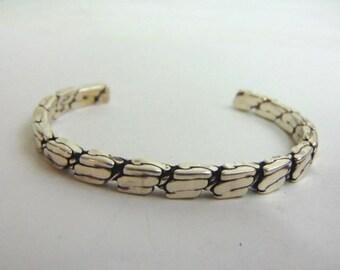 Estate Sterling Silver Cuff Bracelet 29.1g E3477