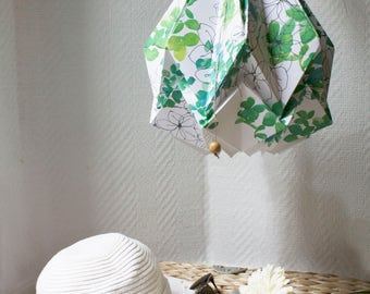 Pendant light Spring Collection | Original drawings and watercolor by creator of BellySketcher, Inês Pargana | Origami handmade lampshade