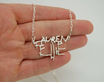 Personalized Mommy Necklace with Children Names, Sterling Silver Necklace for Mom, Gift Ideas for Mom, Gift for Her