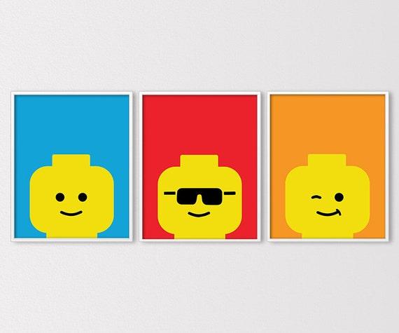 Lego Prints Lego Inspired Building Brick Prints Boys
