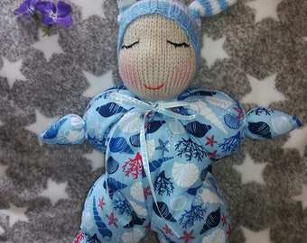 Waldorf Baby Boy Doll - Hand Knitted Soft Toy