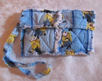 Minions in Blue inspired Clutch bag Cell Phone Case Wristlet Girls Gift For Her  Gift Stocking Filler
