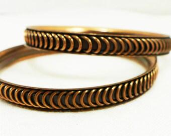 Bangle Bracelets Copper Vintage Gift Present Her