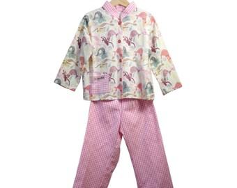 "Pajama pattern vintage ""Mermaid"" in American cotton last PIECE!"