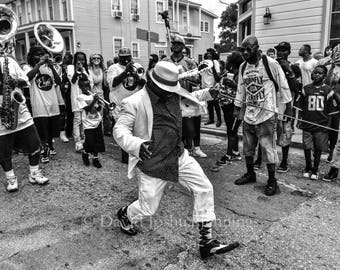 Uptown Second Line - New Orleans 2016 - Fine Art Photograph - Street Photography - Black and White - Fine Art Print