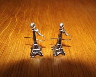 Eiffel Tower earrings handmade.