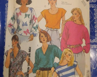 McCall's blouse sewing pattern, McCall's  2959 small petite pattern