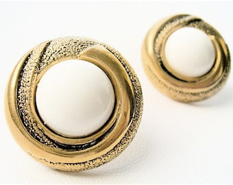 Vintage Chic Golden Egg Stud Earrings. FAST Shipping w/Tracking for US Buyers. Gift Box & Cute Ribbon Included..Ready for Gift Giving.