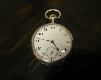 Swiss Sterling Silver, 15 jewel pocket watch. Made aprox 1890