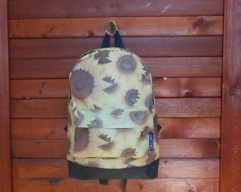 SALE! Flower  sunflower backpack bag