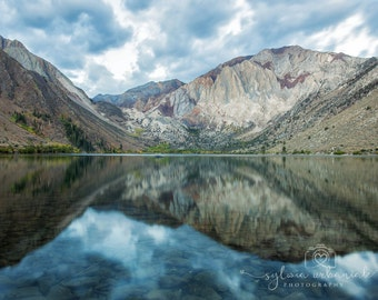 Morning Lake Landscape Photography Nature Photography Mountain Photography Clouds Sunrise Convict Lake home decor Fine Art Photography Print
