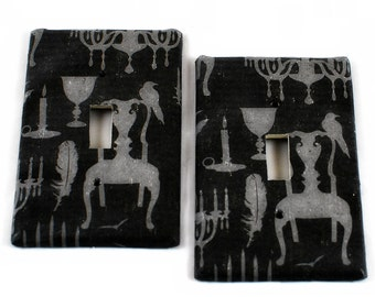 Switch Plate - Gothic Dark Ballroom - Goth Home Decor  - Single Switch - Gifts under 10 - Gothic Gifts