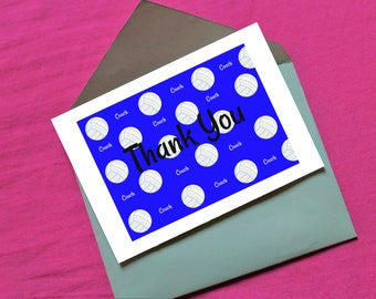 Volleyball Coach Thank You in blue - digital download- 7 x 5