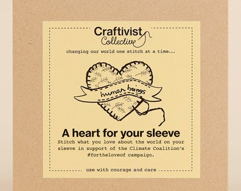 Craftivism kit 'A Heart For Your Sleeve'