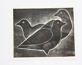 Original art print:  Blackbirds