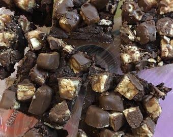 Snickers brownies 6 brownies