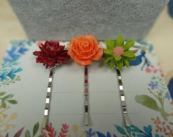 Flower Bobby Pins, Girl Hair Pin, Floral Hair Pin, Bobby Pin Set, Christmas Gift Ideas for girls