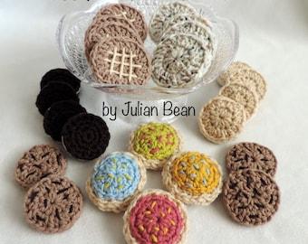 Cookie Platter Play Food crochet PATTERN by Julian Bean