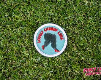 Lovely Chubby Legs - Girth Guides patch for fat activists, Chubby Thighs, Fat Activism, Fat Acceptance, Fat Liberation, Body Positive